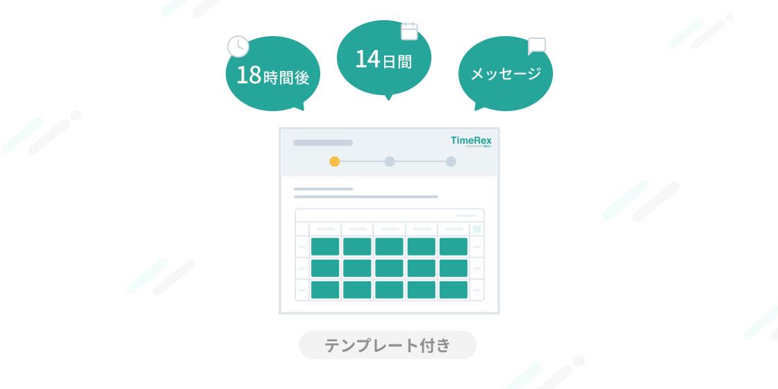 TimeRexはじめの一歩(2)日程調整カレンダーの詳細設定を活用する(メッセージテンプレート付き)