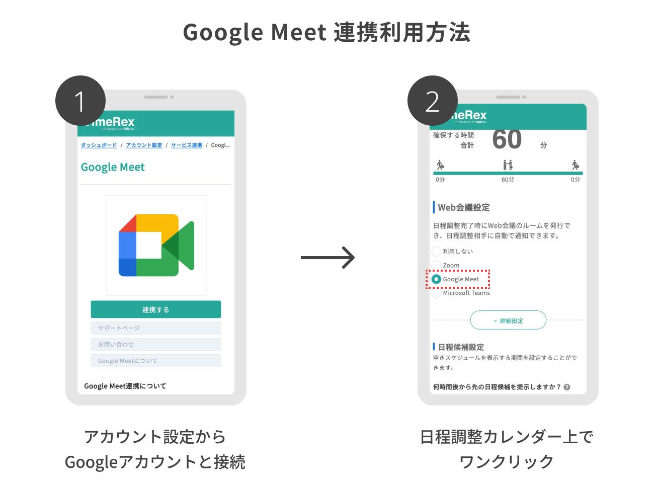 Google Meet 連携利用方法