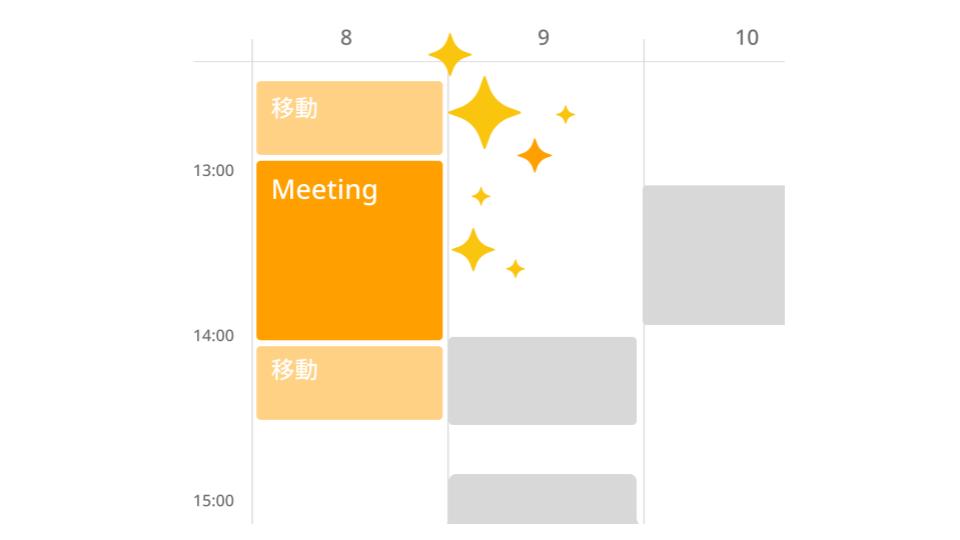 日程調整が完了した予定はあなたのカレンダーに自動登録